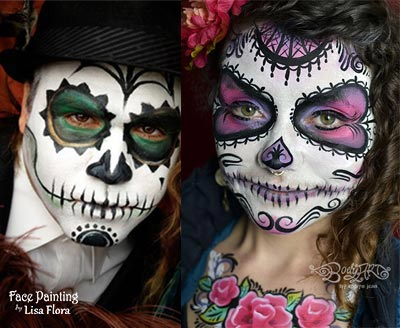 professional face painters also available for private parties coprorate events in home appointments book now - Halloween Bay Area Events