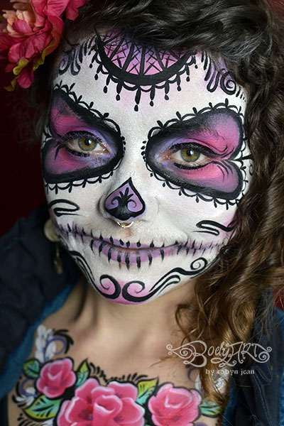 Sugar Skull Day Of The Dead Face Painting Bay Area Painters San Francisco